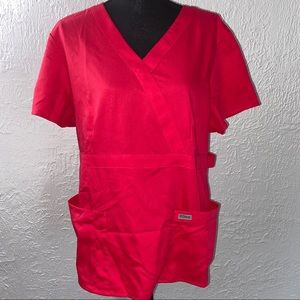 Grey's Anatomy Classic Red Scrub Top
